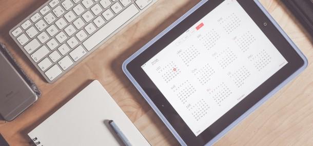 Kalender im Tablet